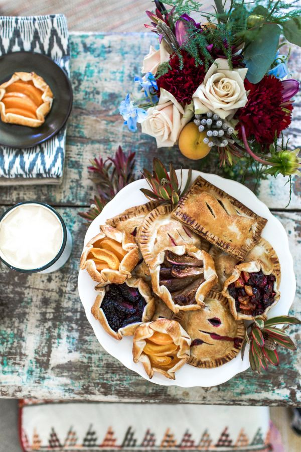 Homemade hand-pies: http://www.stylemepretty.com/living/2015/08/27/end-of-summer-celebration/ | The Birdiegirl Co - http://www.thebirdiegirlcompany.com/