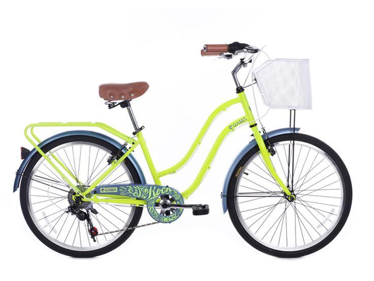 Junior City Mujer/ Lemon Gris. Disponible desde el día 12 de octubre en gamabikes.com #NuevaTemporadaGama #Bici #Bicicleta #Ciclismo