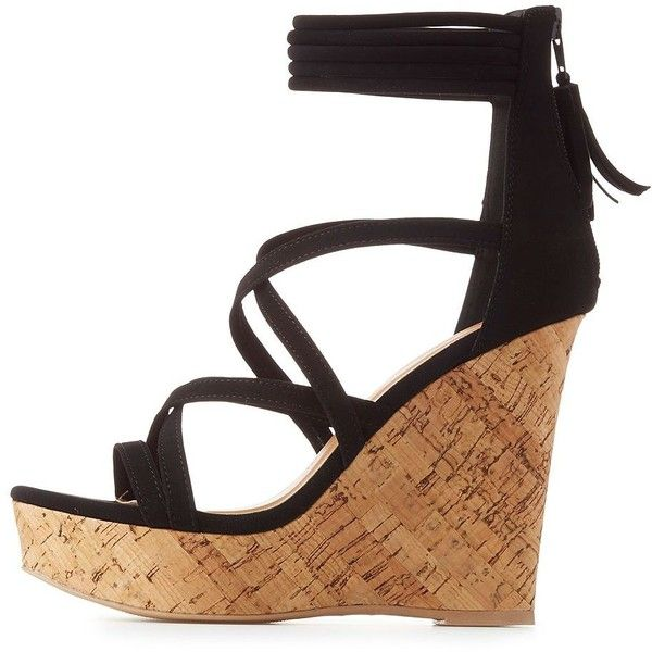 black strap wedge heels - photo #29