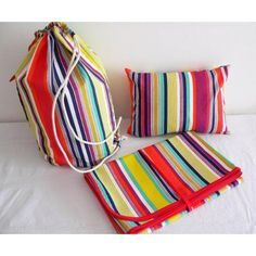 Kit Playa Relax! Lona + Mochila + Almohada Con Relleno!!!!!