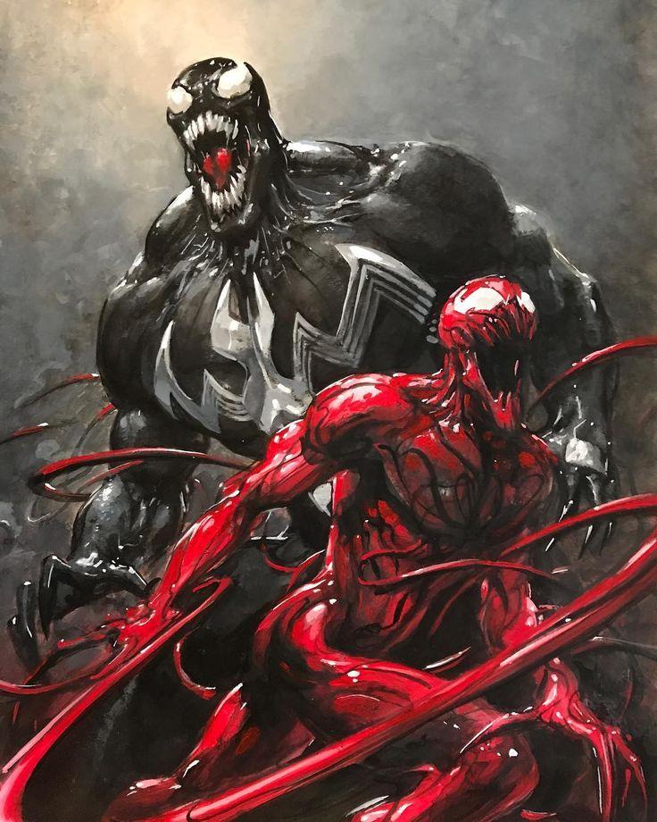 1,825 отметок «Нравится», 26 комментариев — Clayton Crain (@claytoncrain) в Instagram: «Venom and Carnage.»