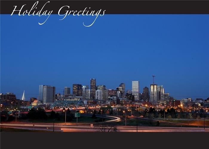 Denver At Sundown Holiday Cards