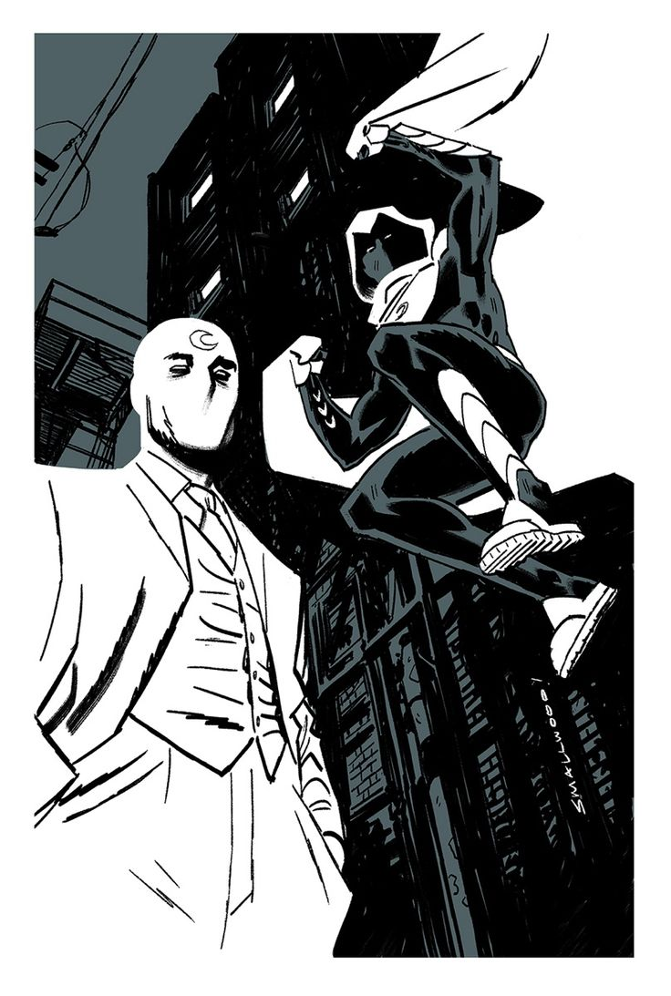 Moon Knight sketch by new series artist Gary Smallwood