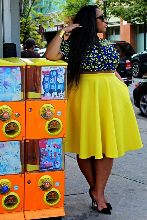 A pop of yellow. For more inbetweenie and plus size style inspiration go to www.dressingup.co.nz