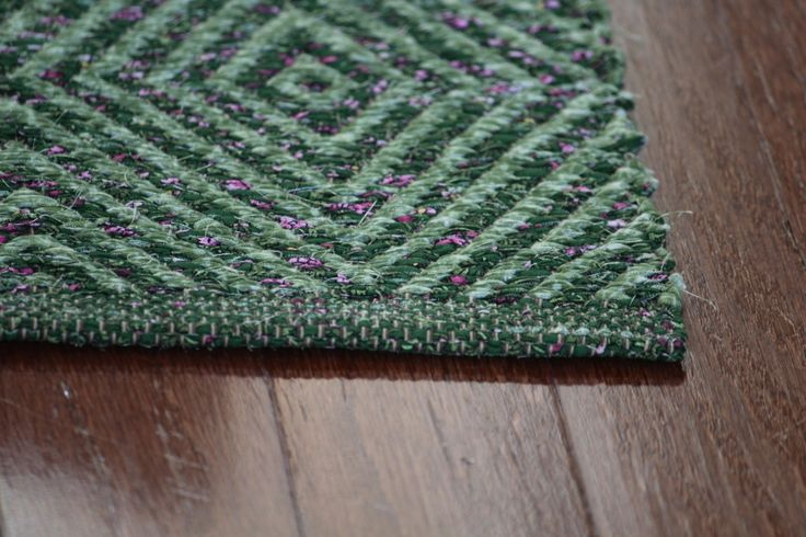 """A crisply-patterned Diamond Twill rag rug could be """"assigned"""" the job of pulling and promoting specific colors in any room."""