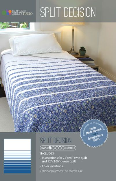 Love 2-fabric quilts - this looks quick and easy. Love it!
