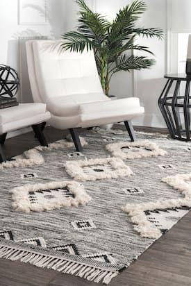rugs usa gray nacoda shaggy moroccan lattice fringe rug geometric rh pinterest com