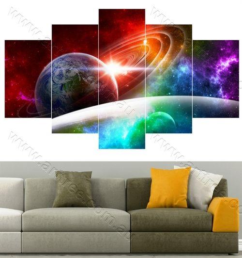 Multicolor Universe Cheap canvas art Melbourne #canvasprint #instaart