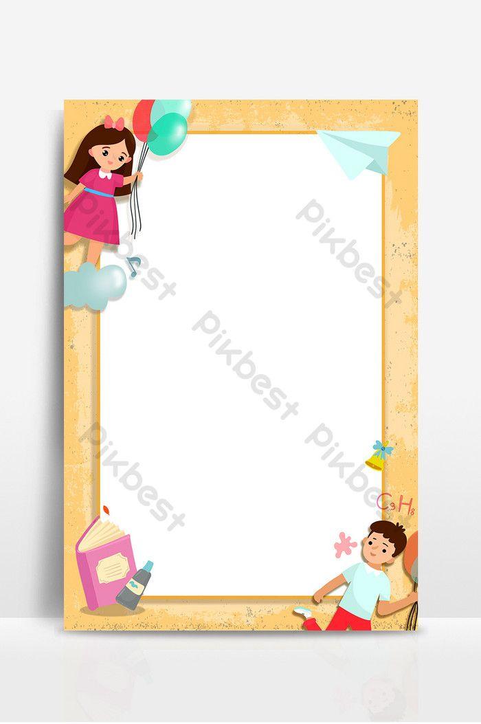 تعلم التعليم كارتون الأطفال إطار الصورة الخلفية خلفيات Psd تحميل مجاني Pikbest Frame Background Photo Frame Kids Photos