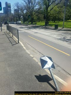 Vandalised Road Sign is a Safety Hazard that kills your loved ones in a car accident    Vandalised Road Sign is a Safety Hazard that kills your loved ones in a car accident  Dear Mayor Doyle  I wish you well. I refer to the attached photo at Melbourne Grammar Tram Stop 22 Stop ID 1557 Domain rd Melbourne CBD Victoria Australia.   The current damaged Road Sign is a Safety Hazard that kills your loved ones in a car accident.   I humbly recommend delegating the task to repair the road signage…