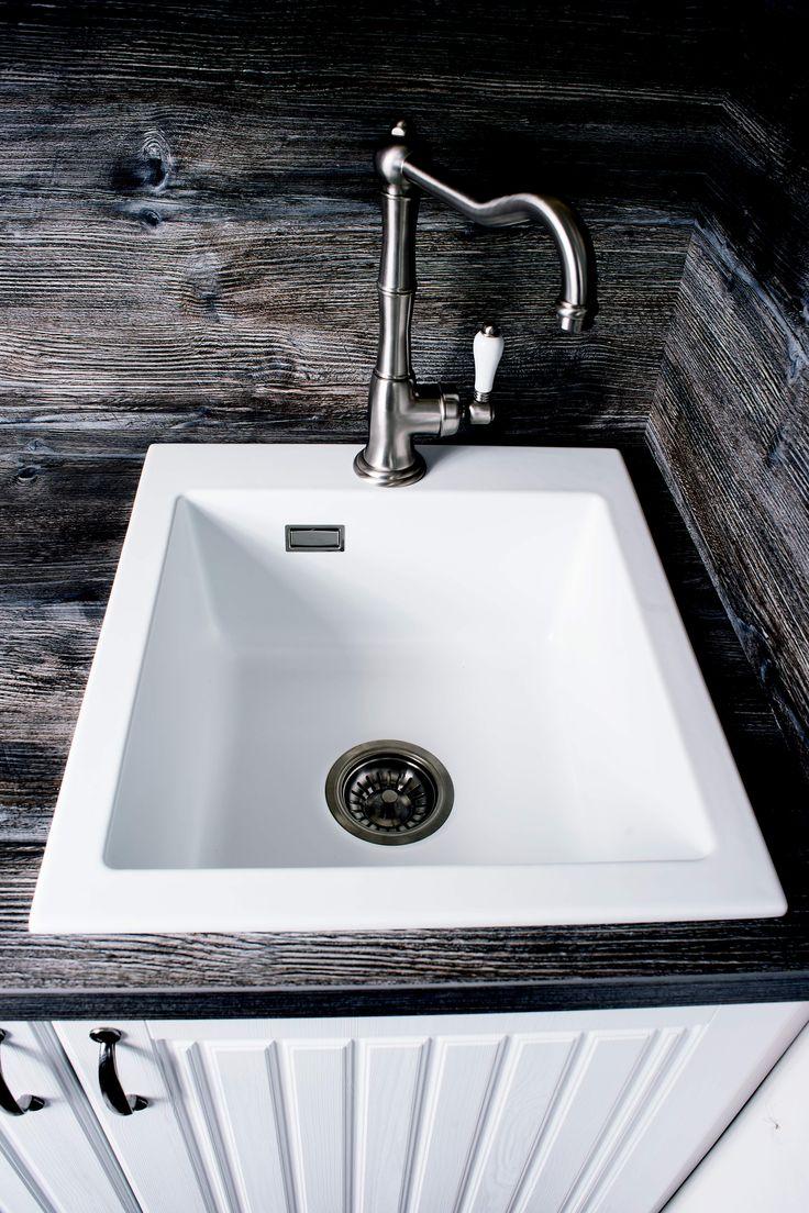 Badelaedchen Nicolazzi Landhaus Spülenarmatur Artikel 3450NS75C Oberfläche  Gebürsteter Nickel