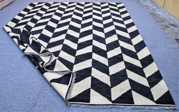 £340 Time needed to prepare different sizes of black and white rug is as follows: 4x6 feet = 10 - 15 working days 5x7 feet = 10 - 15 working days 5x8 feet = 15 - 20 working days 6x8 feet = 15 - 20 working days 6x9 feet = 15 - 20 working days 8x8 feet = 20 - 25 working days 8x10 feet = 25 - 30 working days 8x11 feet = 25 - 30 working days 8x12 feet = 30 - 35 working days 9x12 feet = 30 - 35 working days 10x10 feet = 25 - 30 working days 10x11