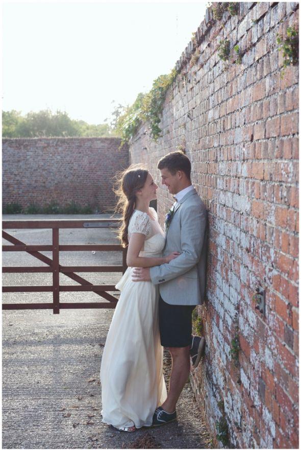 Golden Light evening portraits, groom in shorts, Relaxed Country Garden Secret Garden Ashford Summer Wedding, June Wedding, by Rebecca Douglas Photography