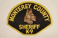 US Monterey County Sheriff K9 Dog Police Patch Obsolete