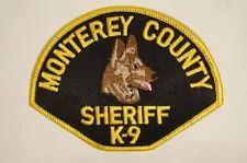 US Monterey County Sheriff K9 Dog Police Patch Obsolete