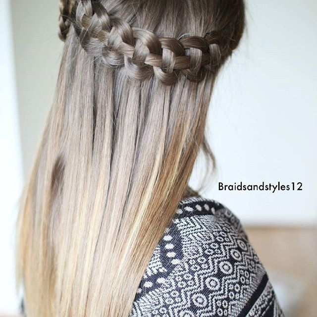 Waterfall Braid by Braidsandstyles12. Click here for a tutorial! : https://www.youtube.com/watch?v=1yQjVCjHiWM