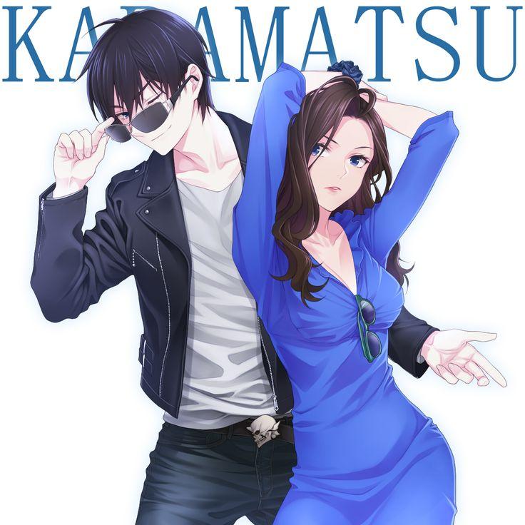 Tags: Fanart, Pixiv, Chimachi, PNG Conversion, Fanart From Pixiv, Osomatsu-kun, Matsuno Karamatsu, Karako (Osomatsu-kun)