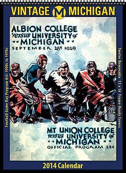 2014 Vintage Michigan Wolverines Football Calendar