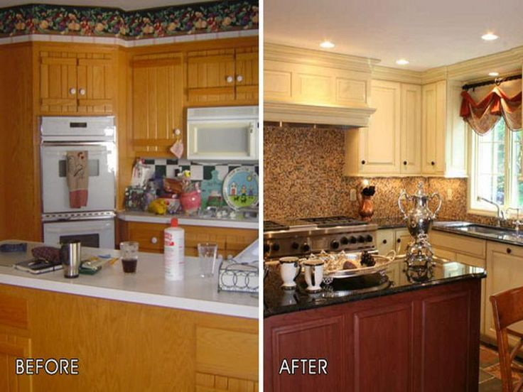 Kitchen Cabinet Makeovers Before And After before and after teeny tiny kitchen cheap makeover what an amazing