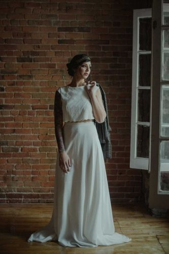 Elegant wedding outfit from Dream it Yourself Montreal