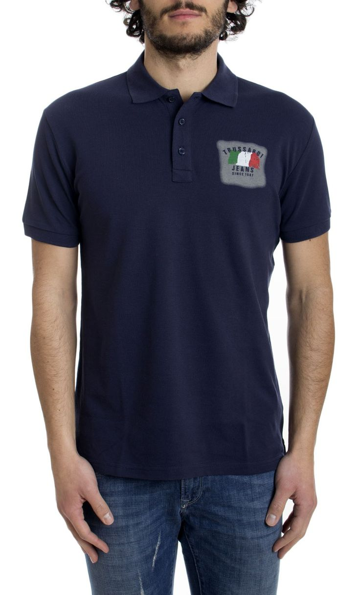 POLO IN PIQUET CON TRICOLORE
