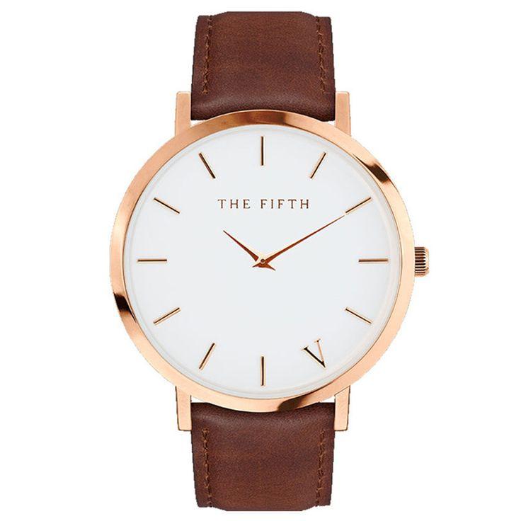 2017 THE FIFTH luxury brand watches men relogio masculino casual classic leather watch waterproof erkek kol saati orologio