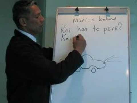 Maori Language Lessons - muri-behind-backof