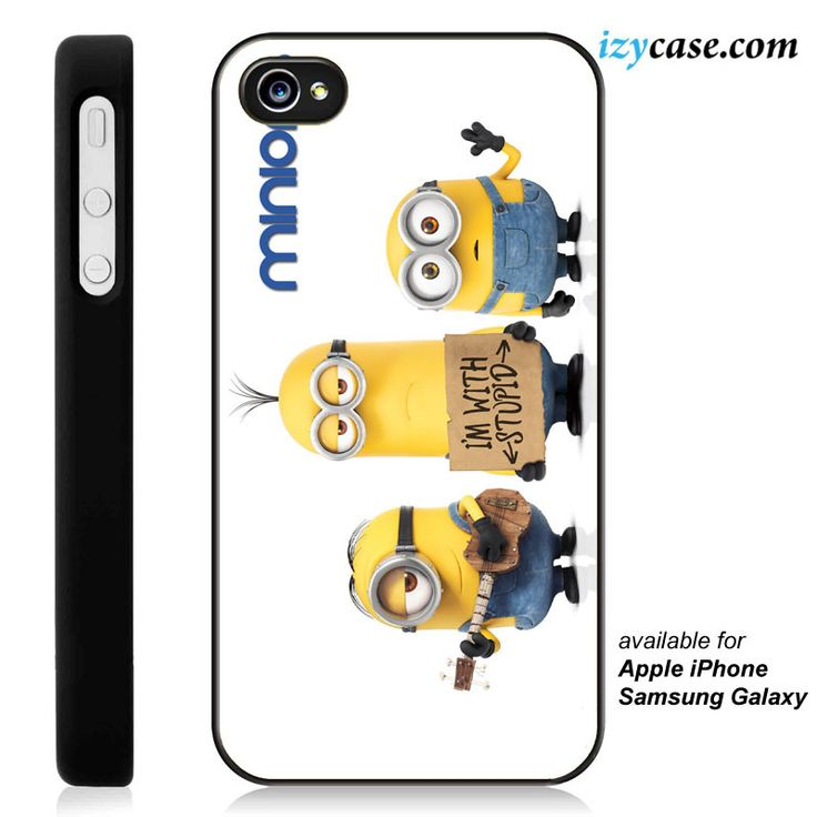 Minions I'm With Stupid Phone Case | Apple iPhone 4/4s 5/5s 5c 6 6 Plus Samsung Galaxy S3 S4 S5 S6 S6 Edge Hard Case
