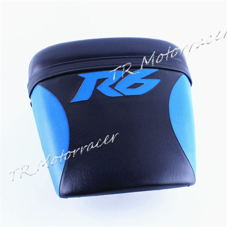 51.71$  Know more  - Motor Rear Back Seat Cushion Pillion For YAMAHA YZF R6 1998 - 2002 1999 2000 2001 Synthetic Leather Passenger Cover Logo Blue
