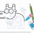 How to draw a COW video lesson - Drawing for kids - HOW TO DRAW video lessons