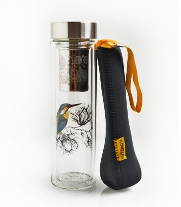 Glass tea infuser bottle from Harney & Sons