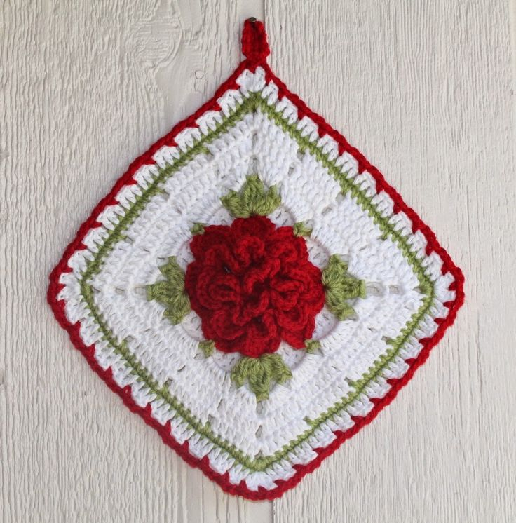 Scotty's Place: Copy Cat Vintage Rose Potholder