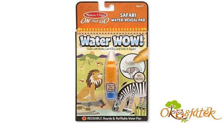 Aqua Doodle szerű vizes tollas színező - Melissa, Safari állatos Water wow 19441 (ME-K)