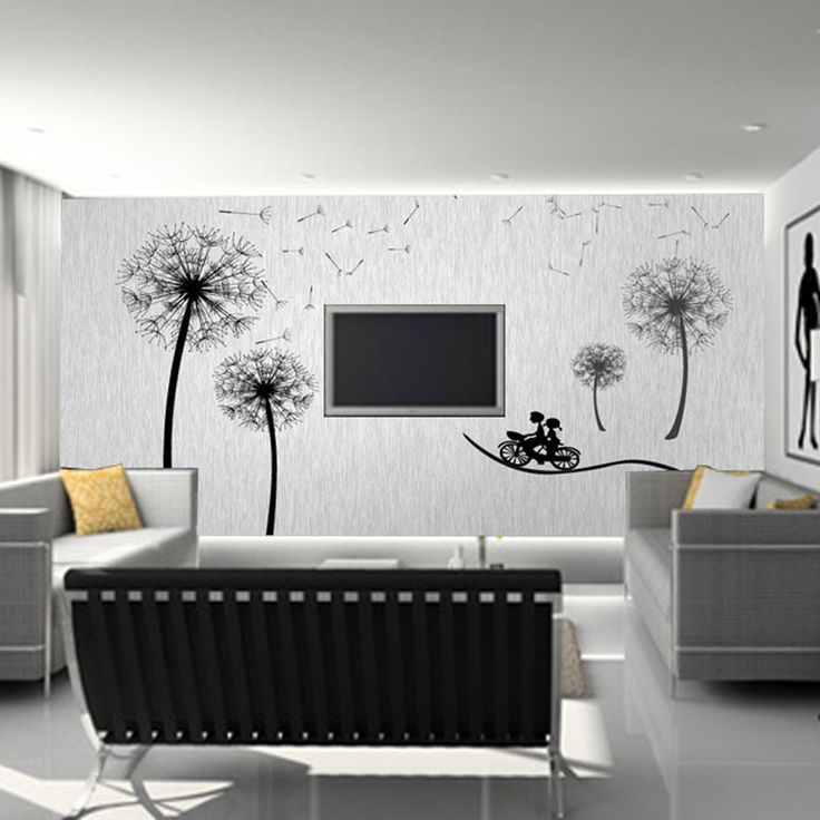 Living Room Creative Decor Simple Tips To Make More Beauty: Inspirational Lovely Painted Wall Mural Design Idea