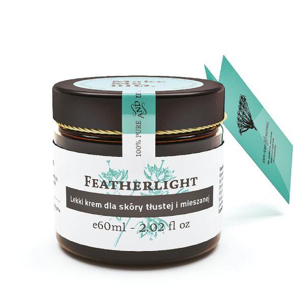 Featherlight. Lekki krem dla skóry tłustej i mieszanej. Z olejem z orzechów laskowych.