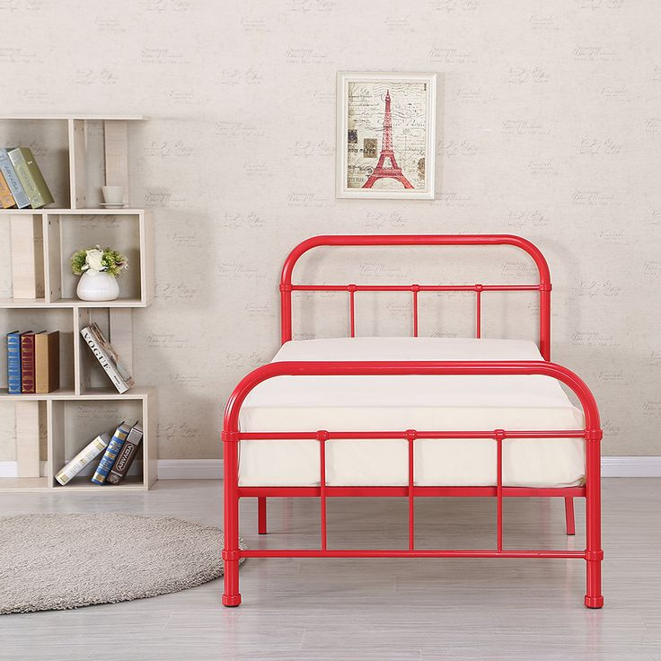 Buy best red iKayaa Metal Platform Twin Size Bedroom Bed Frame from LovDock.com. Buy affordable and quality Beds & Bed Frames online, various discounts are waiting for you.Please use coupon code to get disscount LOVE50OFF LOVEDOCK50OFF.https://www.lovdock.com/p-h17170us-r.html?aid=C6624