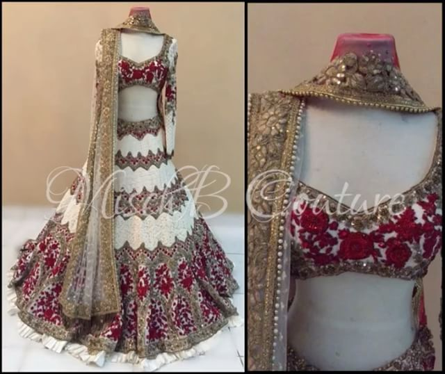 Beauty Queen, bridal lehenga by MischB Couture #desicouture