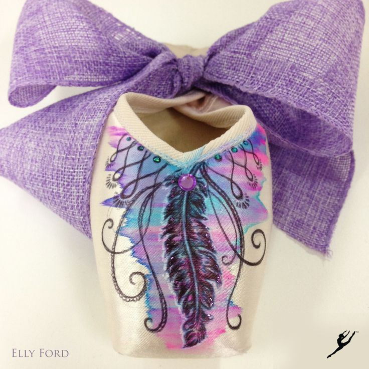 Energetiks Hand Decorated Pointe Shoe by Elly Ford | Energetiks