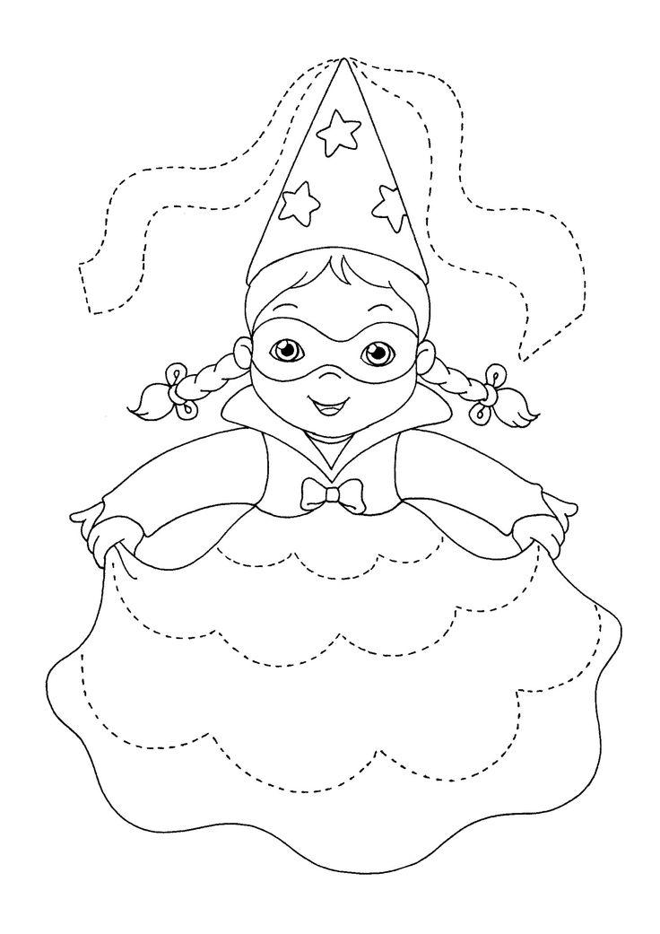 Disegni da colorare per Carnevale