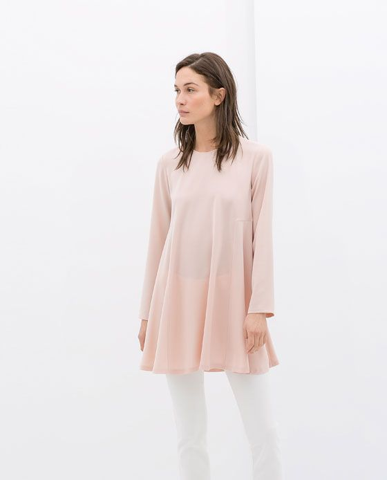 Image 1 of BABY DOLL DRESS from Zara  I don't have anything like this! It loos classy, simple and comfortable
