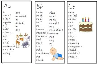 Oxford Word list booklet template (alphabetical order)I hole punch the top right corner and put the laminated cards onto a ring for the kids to flip through.