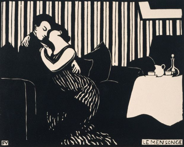 Felix Vallotton, The Lie, 1898, Baltimore Museum of Art