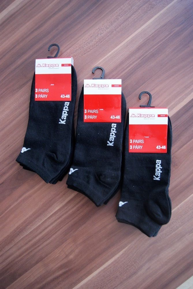 Kappa 9 Pairs Brand New Black Ankle Socks Size US 10-12 EU 43-46 UK 7-9  #Kappa #AnkleSocks