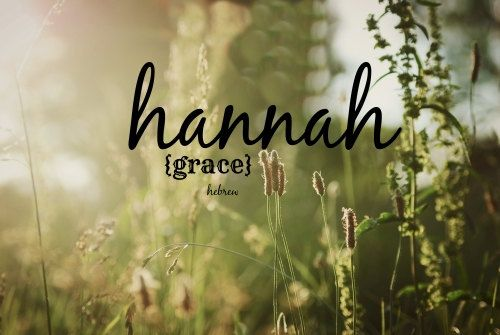 Scripture Name Art Baby girl quote Hannah means Grace