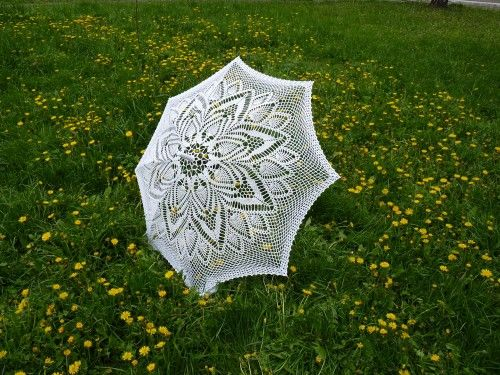 Lacy Parasol photo prop wedding promenade Umbrella in white