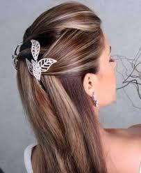 Resultado de imagem para penteados soltos lisos para festas
