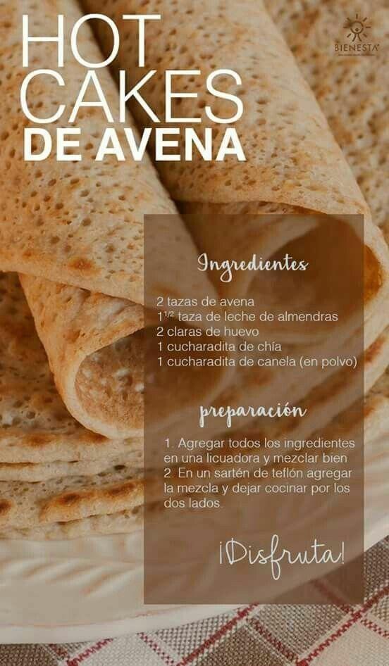 Hot cakes de avena #alimentacionsana