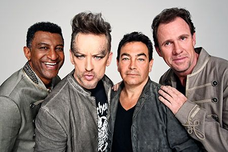 """Boy George and the Culture Club chat about what it's like to leap into the present music scene with their latest album, """"Tribes"""", and how everything has changed since 'Karma Chameleon'. Pictured: Mikey Craig, Boy George, Jon Moss and Roy Hay"""