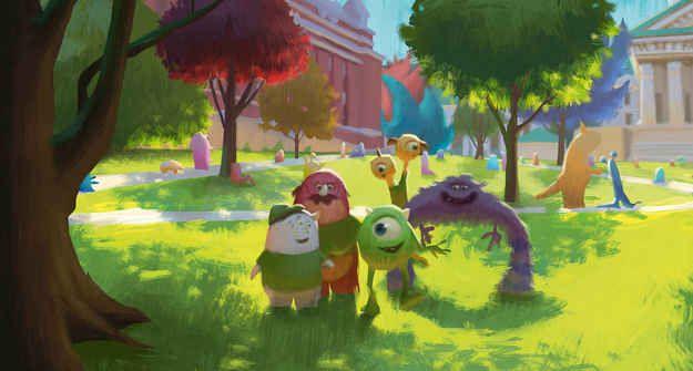 Stunning Pixar Concept Art - Monsters University