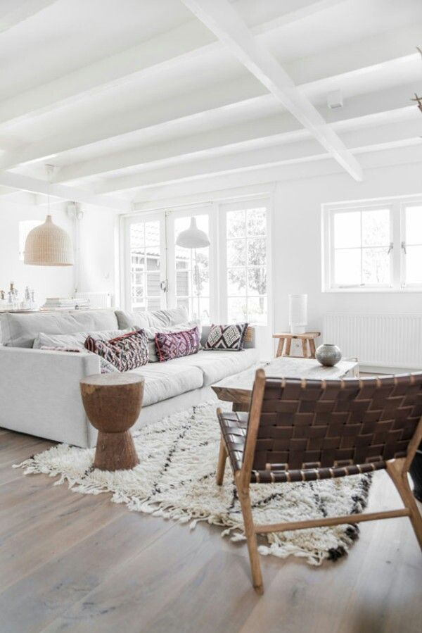 white bright living room
